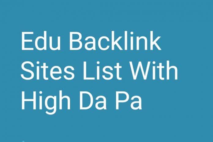 Edu Backlink Sites